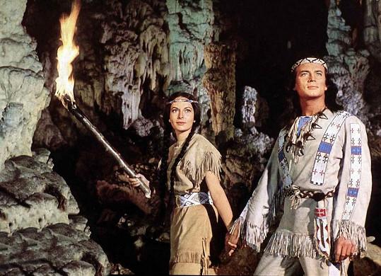 Karin Dor jako indiánská dívka Ribanna ve filmu Vinnetou – Rudý gentleman.