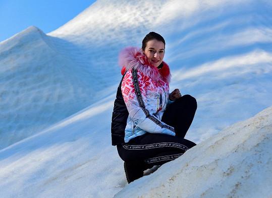 Berenice Kohoutové to na sněhu velmi sluší.