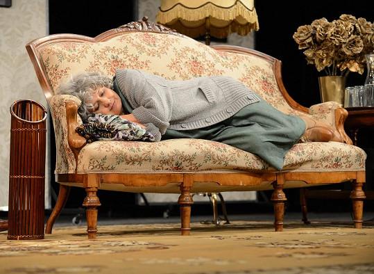 Veronika na divadelní zkoušce.