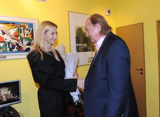 Ivana se zastavila i za Františkem Janečkem, producentem představení.