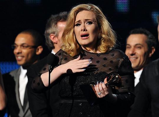 Adele byla velmi dojatá.