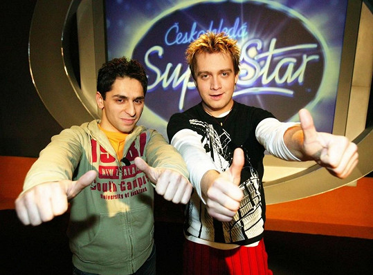 Michal Hudček s Vlastou Horváthem v době, kdy bojoval o titul druhé SuperStar.