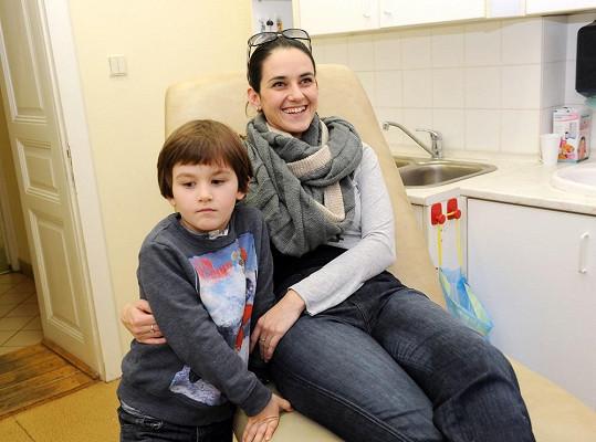 Libuška Vojtková se synem Matyášem