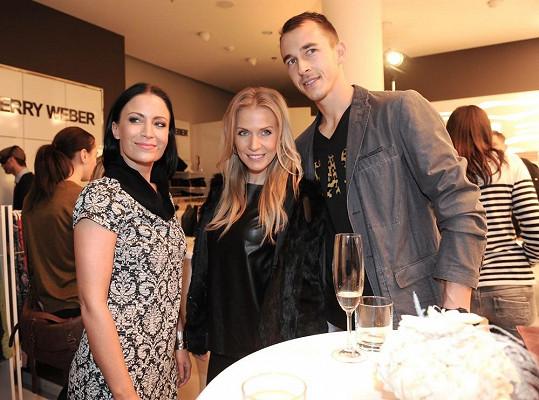 Na opening párty s Míšou Ochotskou a Lukášem Rosolem