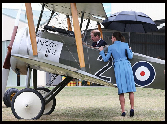 Vévoda z Cambridge se mohl posadit do kokpitu vzdušného veterána.