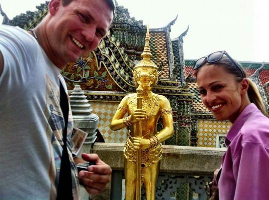 Renata s přítelem Ondřejem si užili dva týdny v Thajsku.