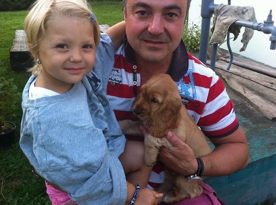 Martin Zounar má nádhernou dcerku.