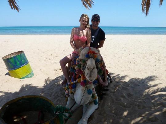 Období štěstí. Petr a Petra na společné dovolené v Egyptě.