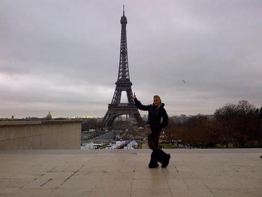 Michaela Ochotská si poslední den v roce užila v Paříži.