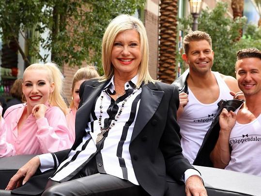 Olivia Newton-John navštívila Las Vegas.