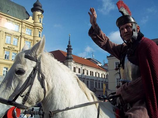 Martin Maxa se proháněl v centru Brna.