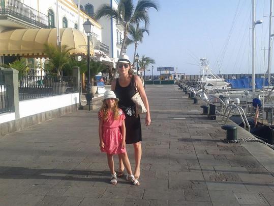 Markéta Hrubešová s dcerou Christel na dovolené na Kanárských ostrovech