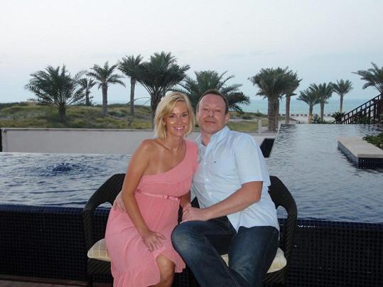 Lucie a Michal strávili dvacet dní v Abú Dhabí.