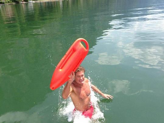 David Hasselhoff trávil víkend u rakouského jezera Traunsee.
