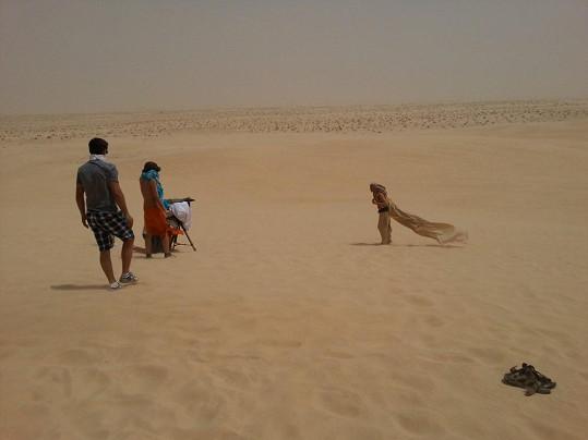 Natáčení na Sahaře