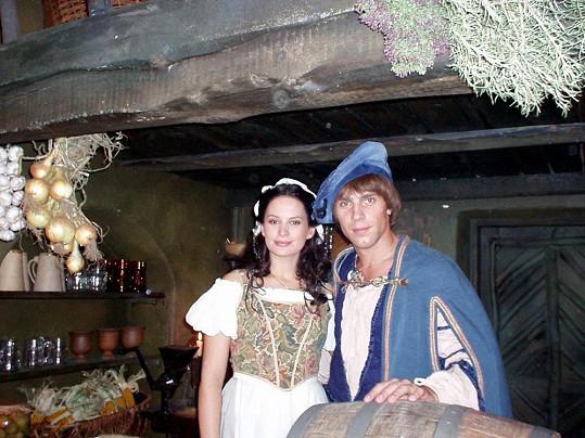 S Romanem Vojtkem v pohádce O princezně se zlatým lukem (2002)