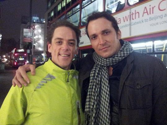 Radim Schwab s představitelem londýnského Fantoma opery