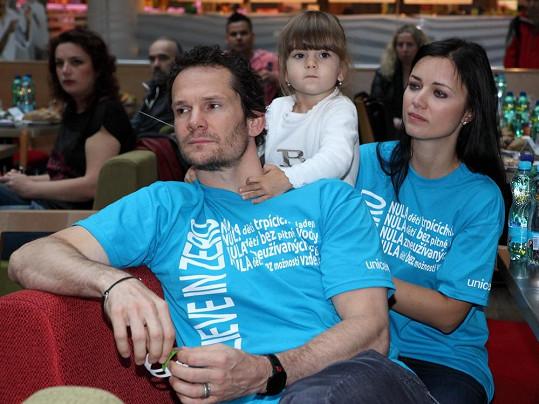Eliáš s manželkou a dcerou Sofinkou