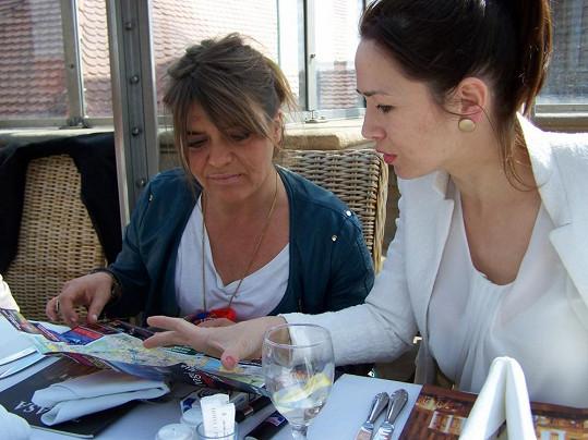 Tereza Kostková s Carole Greep