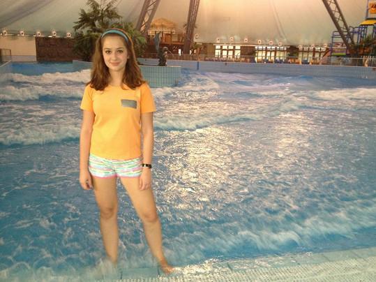 Kristína pracovala v aquaparku.