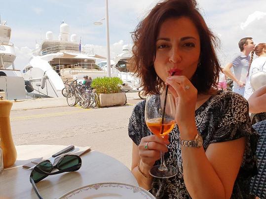 Eva Borská v Saint Tropez