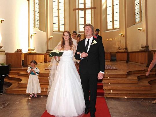 Josefína si brala svého snoubence Michala Vaška v kostel Sv. Salvátora.