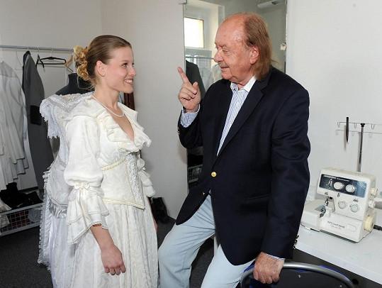 Míša s producentem Františkem Janečkem