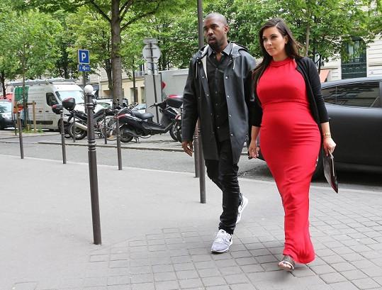 Nastávající rodiče Kim a Kanye