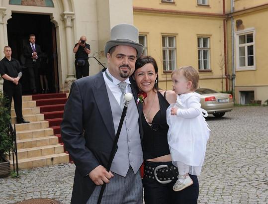 Pavel se sestrou Lenkou a její nejmladší dcerou Johankou.