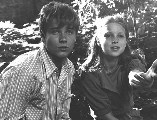 Tereza Pokorná v roce 1979, na snímku s Lukášem Vaculíkem