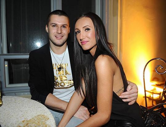 Taťána Makarenko s přítelem Zdeňkem Bahenským.