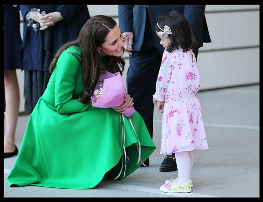 Malá Wilhelmina se před princeznou styděla...