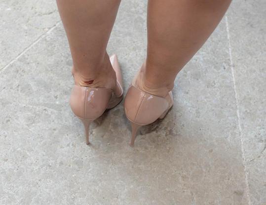 Boty byly také krásné, ale pohodlné moc ne.