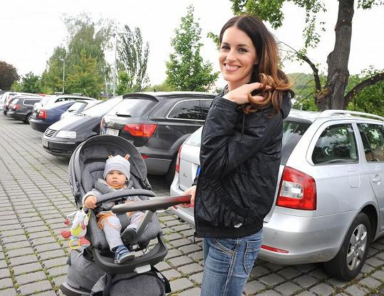 Lucie Křížková se synem Davídkem