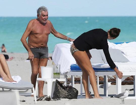 Roberto Cavalli s milenkou na Miami.