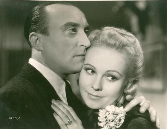 Oldřich Nový a Jiřina Sedláčková ve filmu Eva tropí hlouposti (1939)