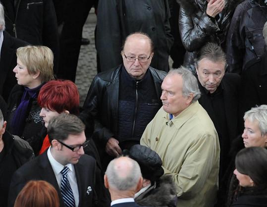 Petr Janda při kondolencích vdově po Pavlu Bobkovi.