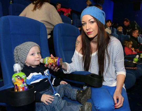 Agáta byla zvědavá, jak dlouho to její potomek v kině vydrží.