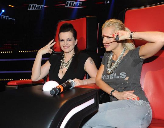 Dara Rolins a Marta Jandová společně koučují v Hlasu ČeskoSlovenska.