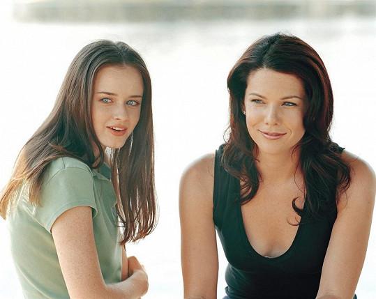 Máma Lorelai s dcerou Rory v seriálu Gilmorova děvčata.