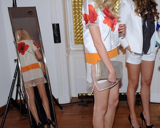 Transparentní pruh látky naznačoval, že si snad Česká Miss 2011 neoblékla pod šaty kalhotky.