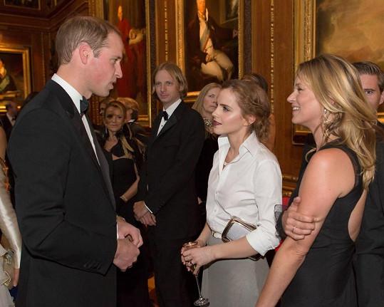Vévoda z Cambridge se chvíli věnoval i herečce Emmě Watson.