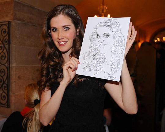 Jana Bernášková byla s karikaturou spokojená.