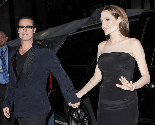 Angelina s Bradem v New Yorku