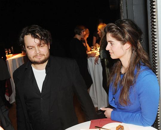 Josef Abrhám mladší s partnerkou.