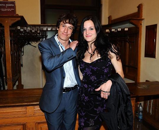 Martin Kraus s přítelkyní Klárou na udílení cen TýTý.