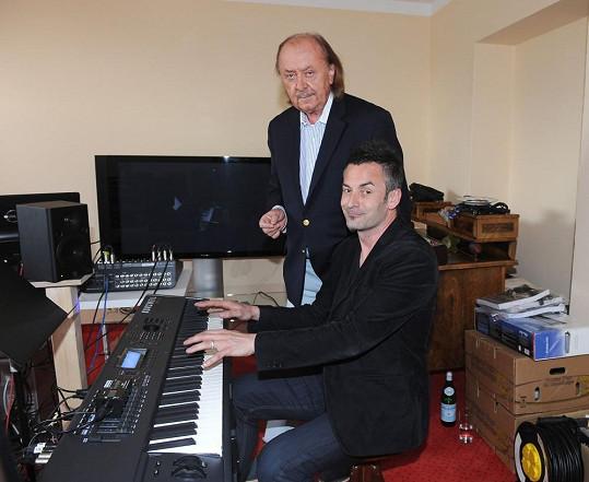 František Janeček s britským odborníkem na zvuk