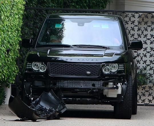 Takhle dopadlo Beckhamovo auto.