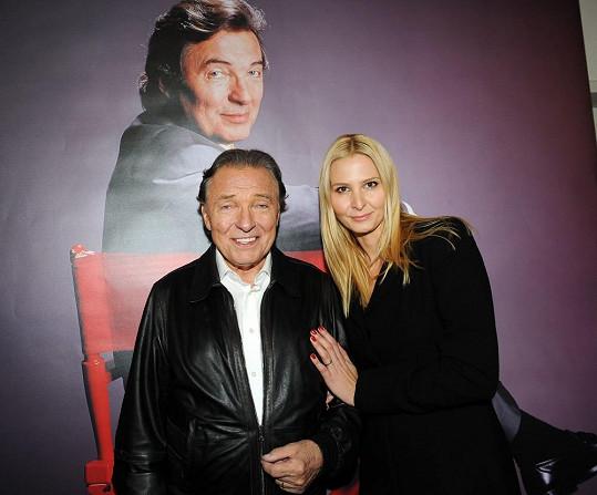 Karel Gott s manželkou Ivanou