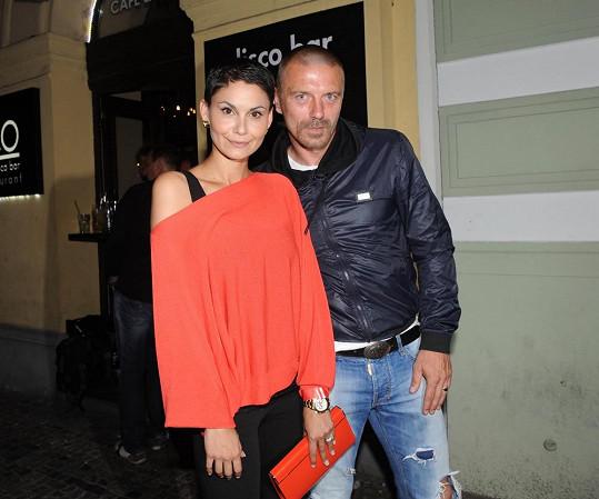 Vlaďka Erbová a Tomáš Řepka na párty